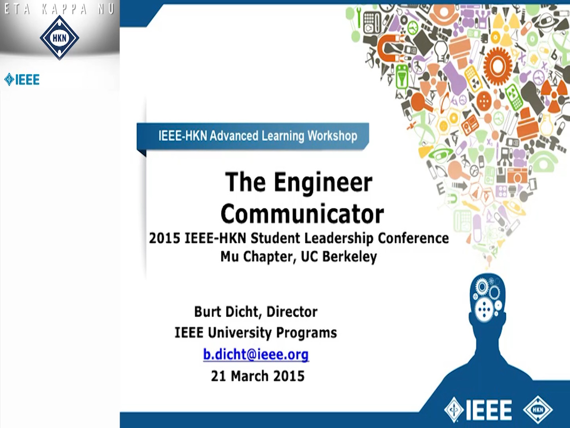 The Engineer Communicator - Burt Dicht (2015-HKN-SLC)