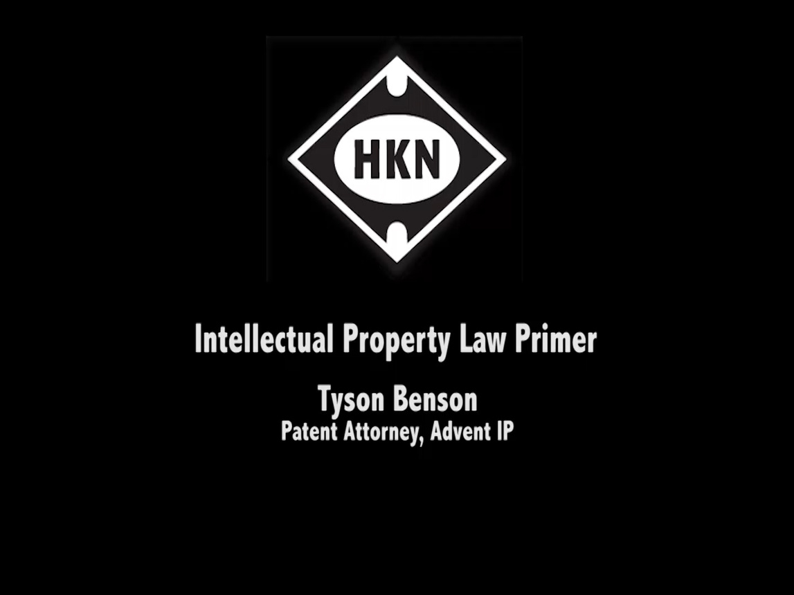 Intellectual Property Law Primer - Tyson Benson (2014-HKN-SLC)