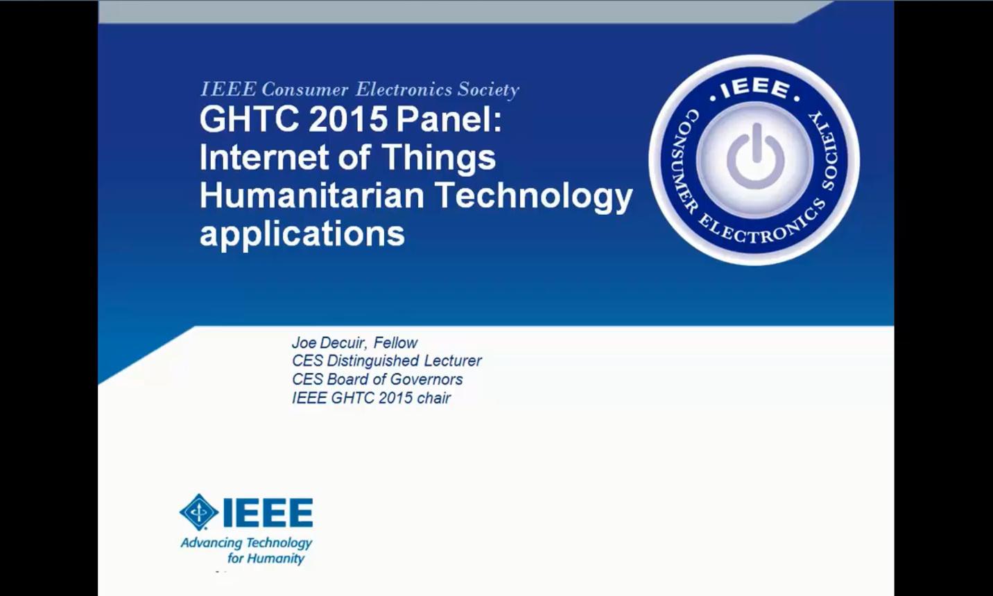 GHTC 2015 - IoT Panel