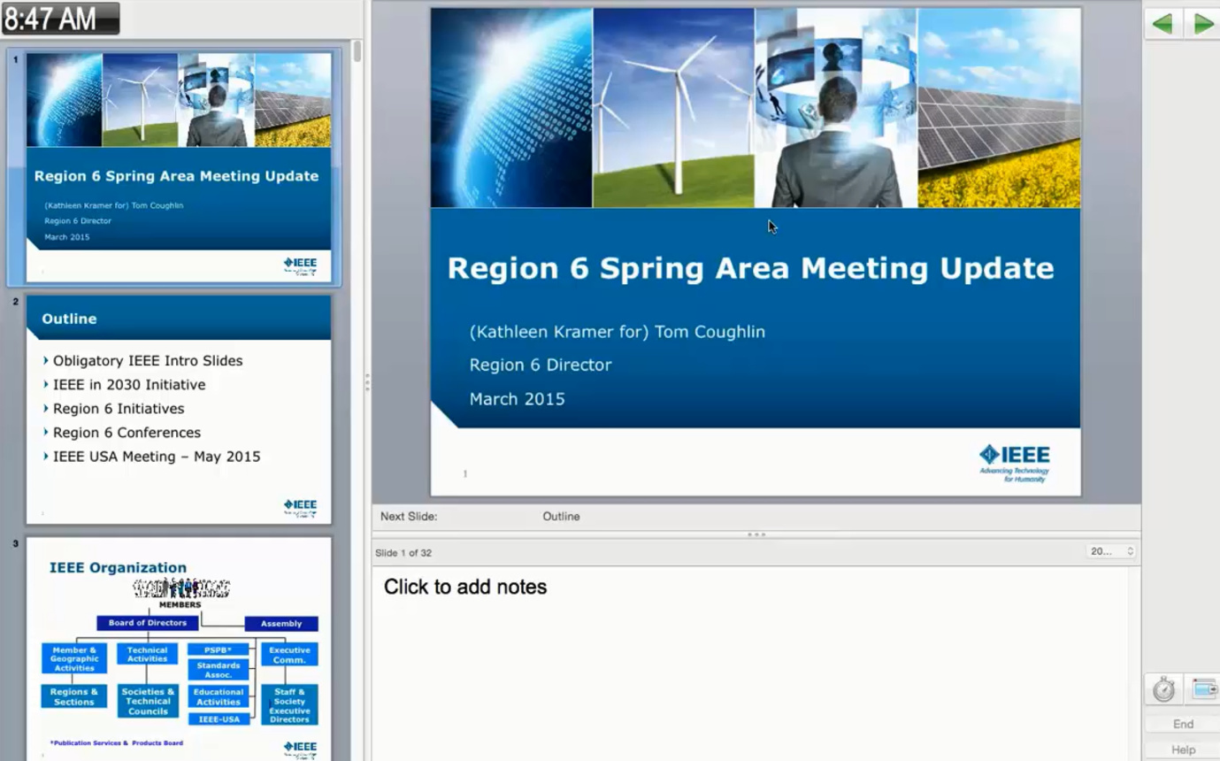 Region 6 Spring Area Meeting Update