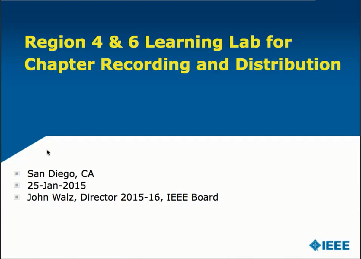 Learning Lab for Chapter Recording and Distribution