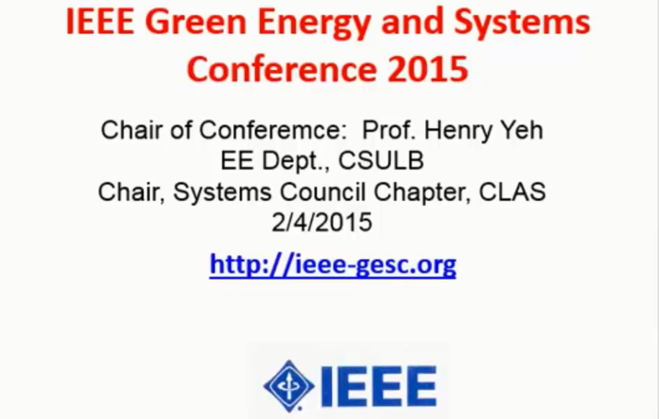 IEEE Green Energy and Systems Conference 2015