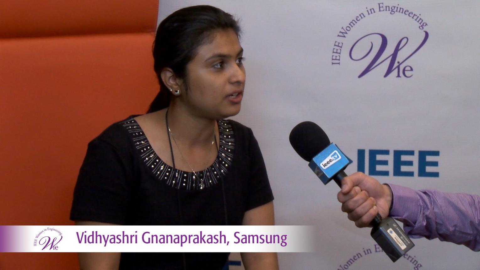 Vidhyashri Gnanaprakash from Samsung at WIE ILC 2016