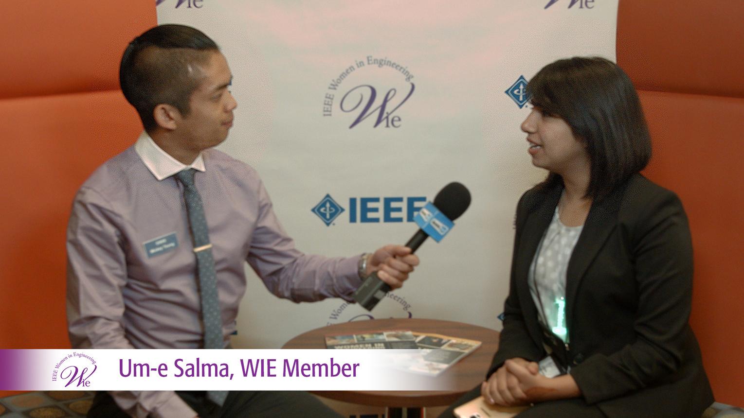 WIE Member Um-e Salma at WIE ILC 2016