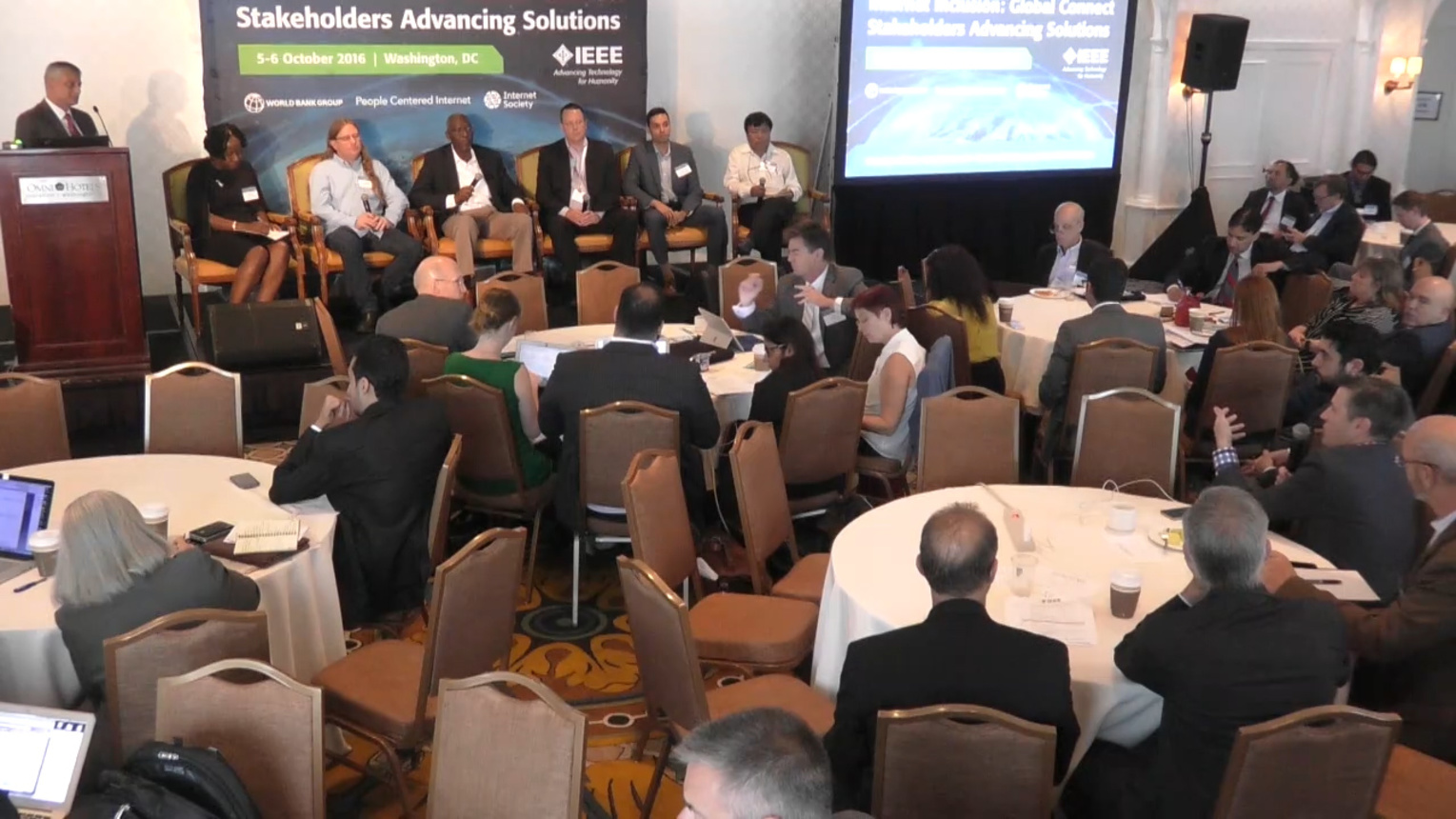 Roundtable: Technologists Connection - Internet Inclusion: Global Connect Stakeholders Advancing Solutions, Washington DC, 2016