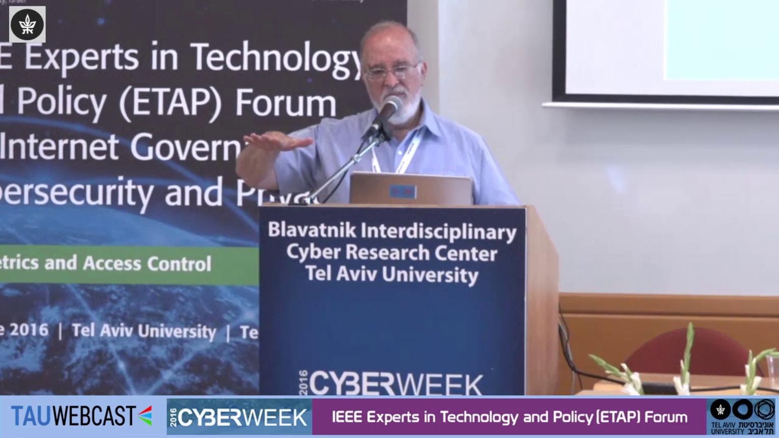 Keynote Isaac Ben-Israel - ETAP Forum Tel Aviv 2016