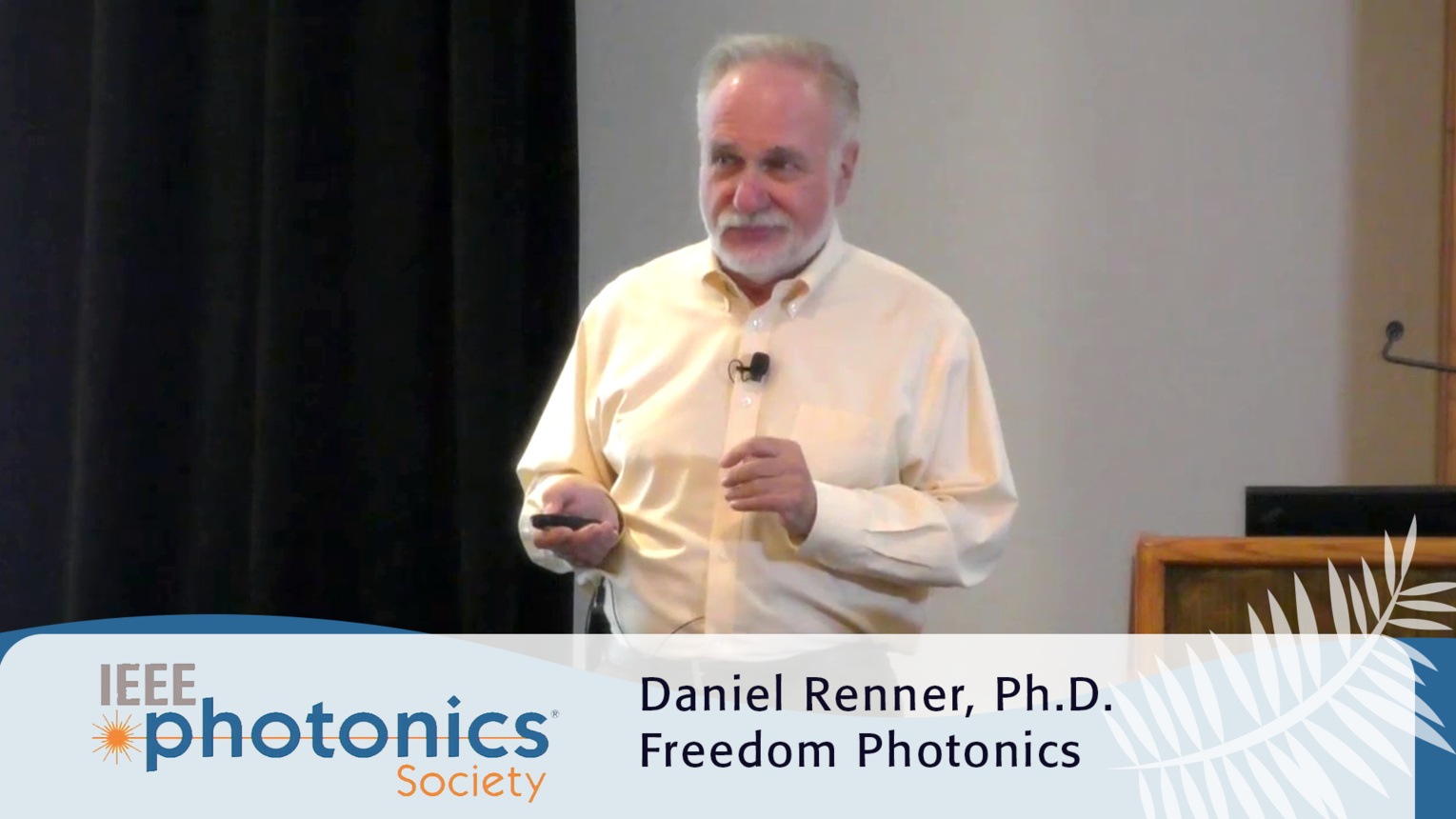 Life at a Photonics Startup - 2016 IEEE Photonics Conference