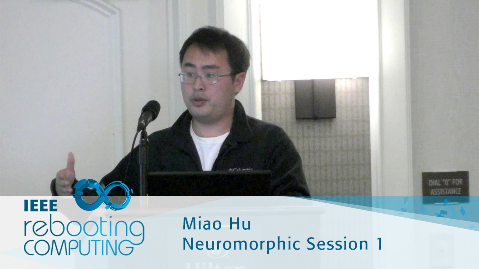 Accelerating Discrete Fourier Transforms with Dot-product engine - Miao Hu: 2016 International Conference on Rebooting Computing