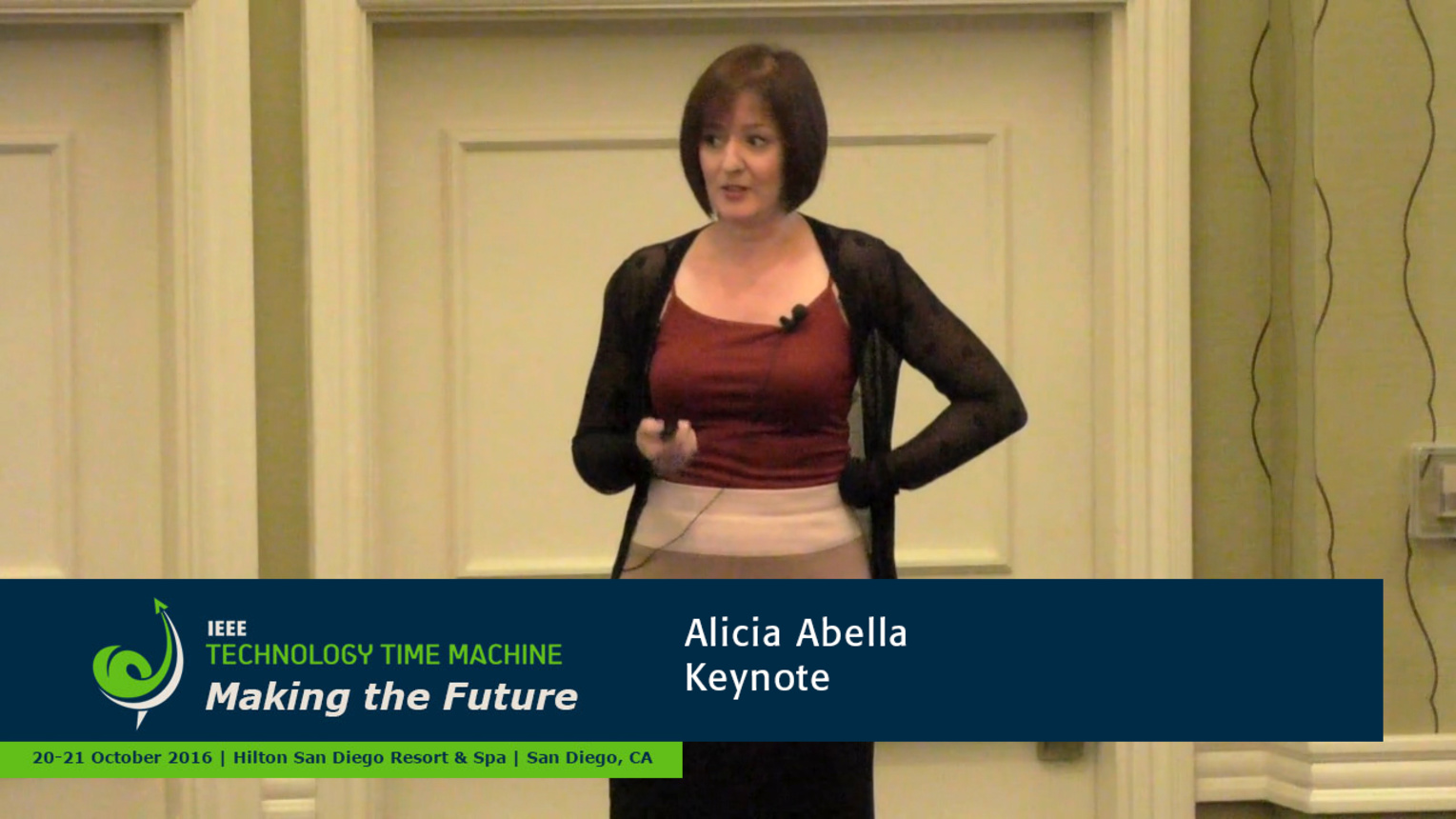 Keynote - AT&T's Alicia Abella: 2016 Technology Time Machine