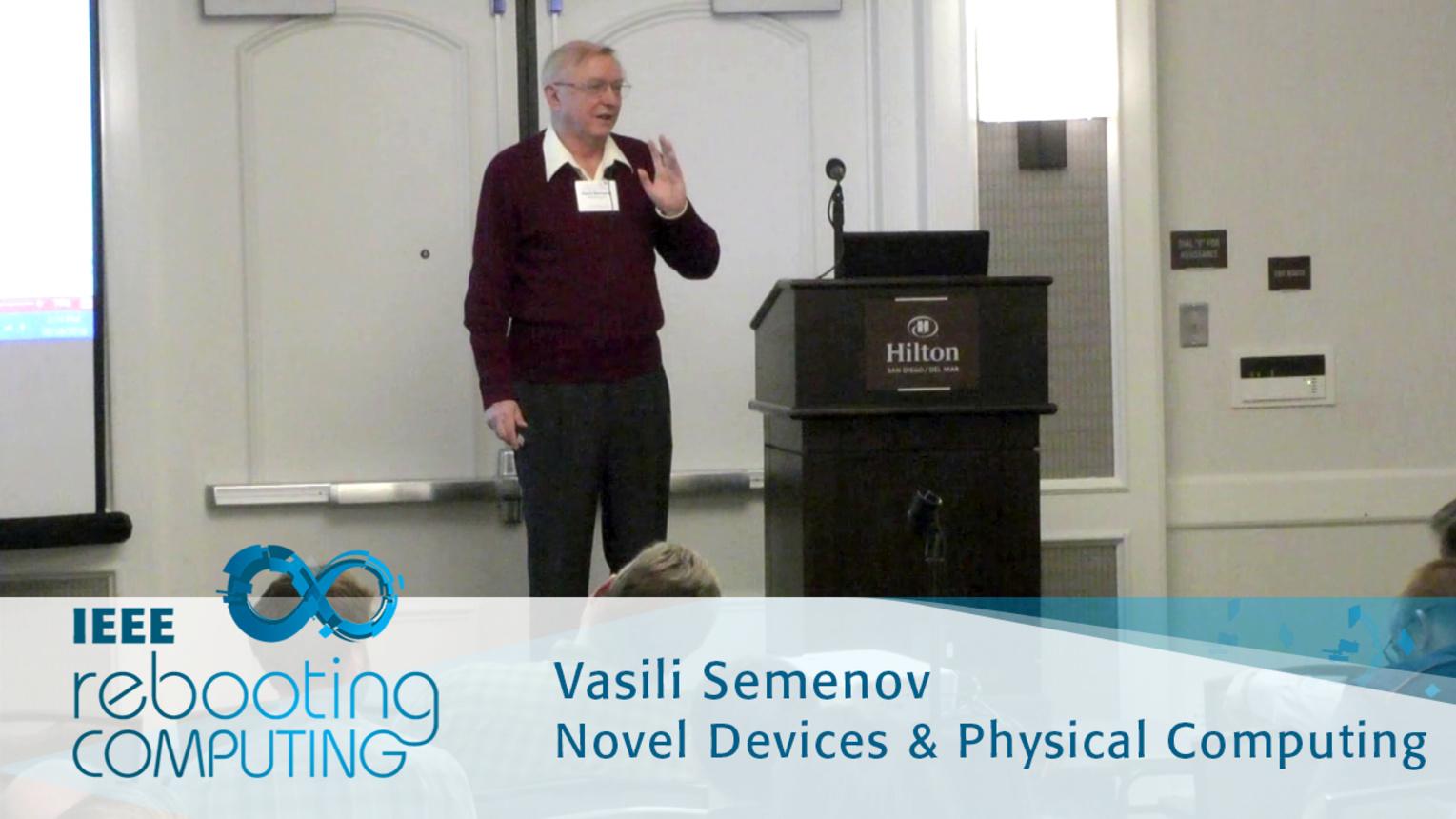 Erasing Logic-Memory Boundaries in Superconductor Electronics - Vasili Semenov: 2016 International Conference on Rebooting Computing