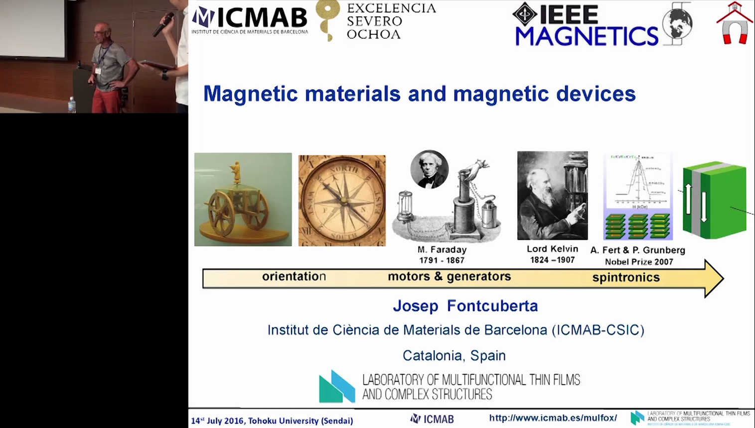 Magnetic Materials and Magnetic Devices - Josep Fontcuberta: IEEE Magnetics Distinguished Lecture 2016