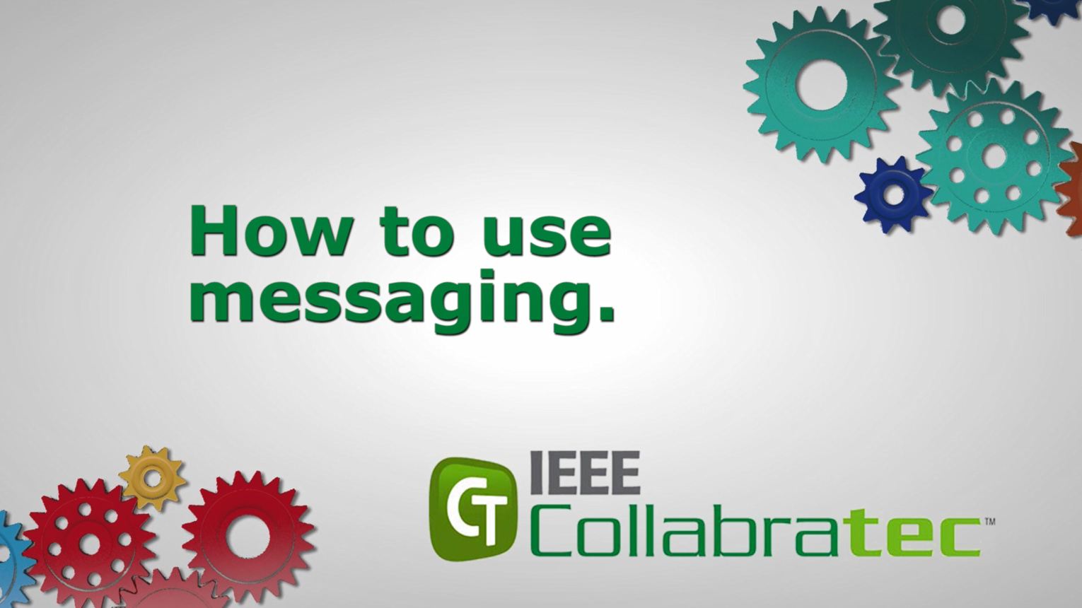 IEEE Collabratec: Messaging