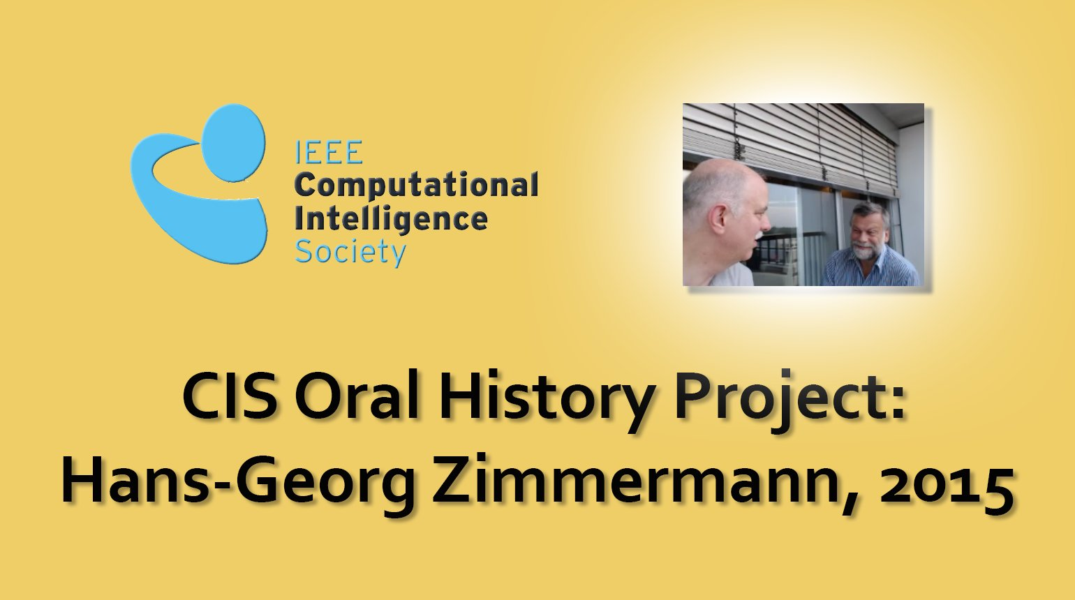 Interview with Hans-Georg Zimmermann, 2015: CIS Oral History Project