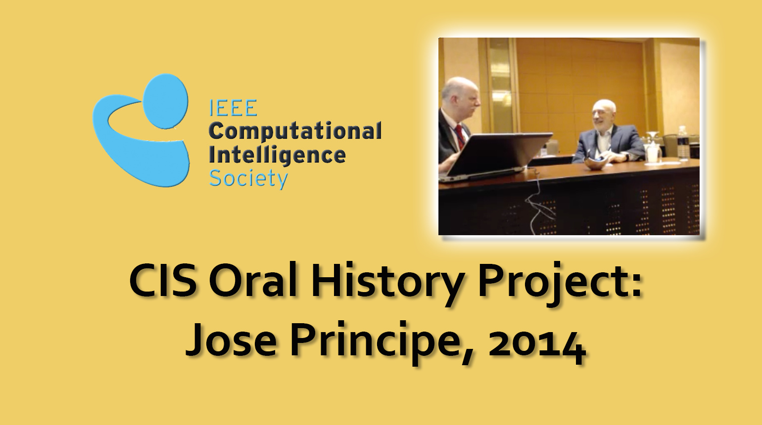 Interview with Jose Principe, 2014: CIS Oral History Project