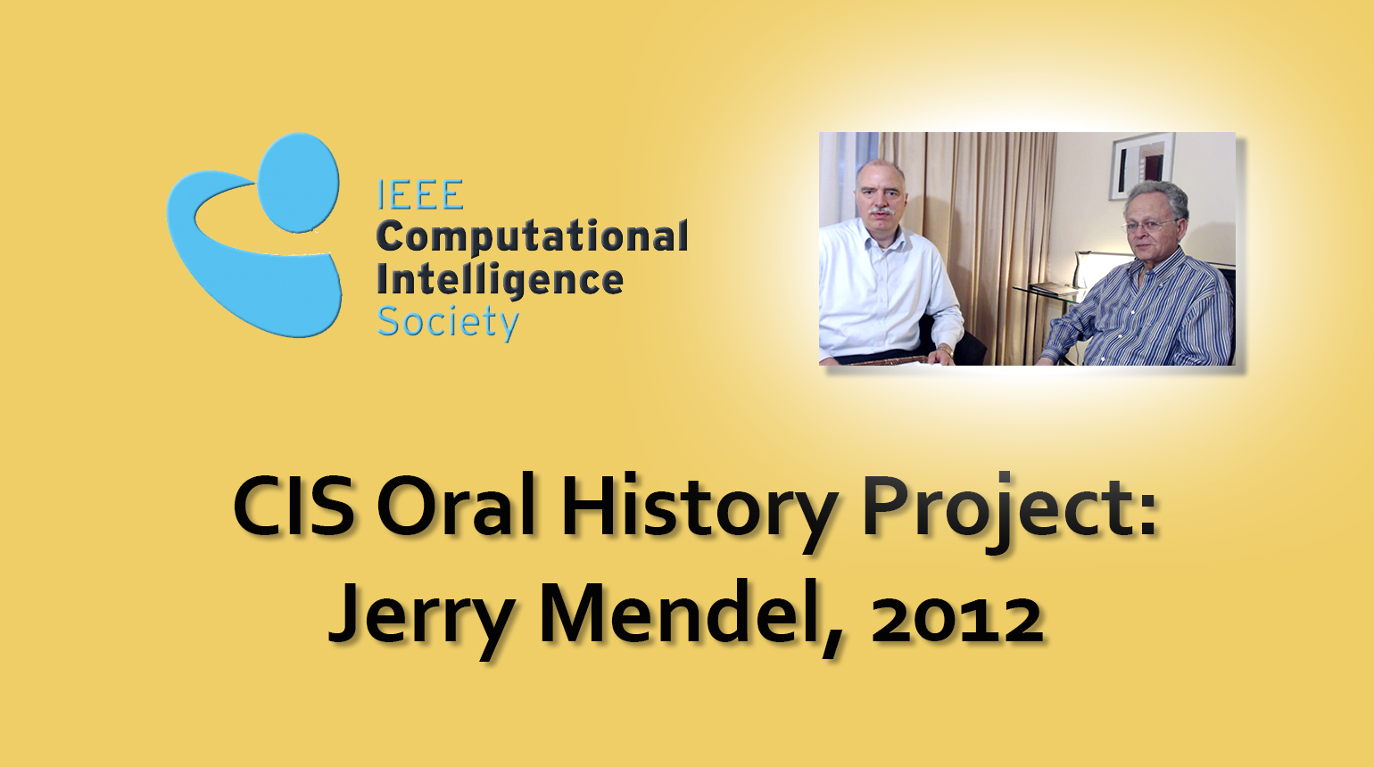 Interview with Jerry Mendel, 2012: CIS Oral History Project