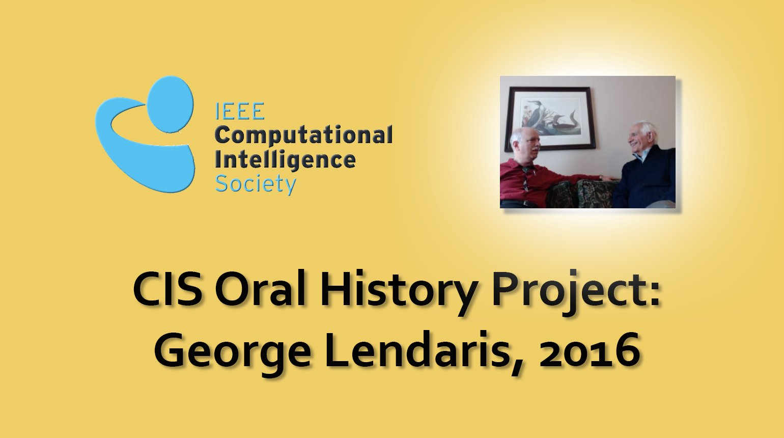 Interview with George Lendaris, 2016: CIS Oral History Project