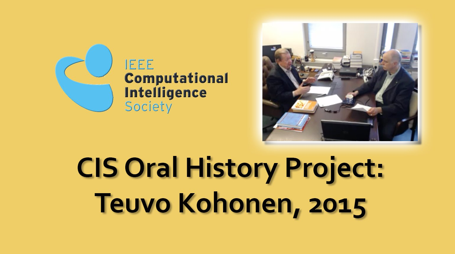 Interview with Teuvo Kohonen, 2015: CIS Oral History Project
