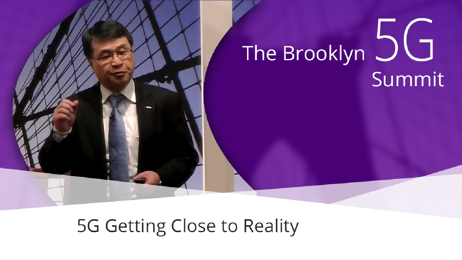 5G Getting Close to Reality - Seizo Onoe: Brooklyn 5G Summit 2017