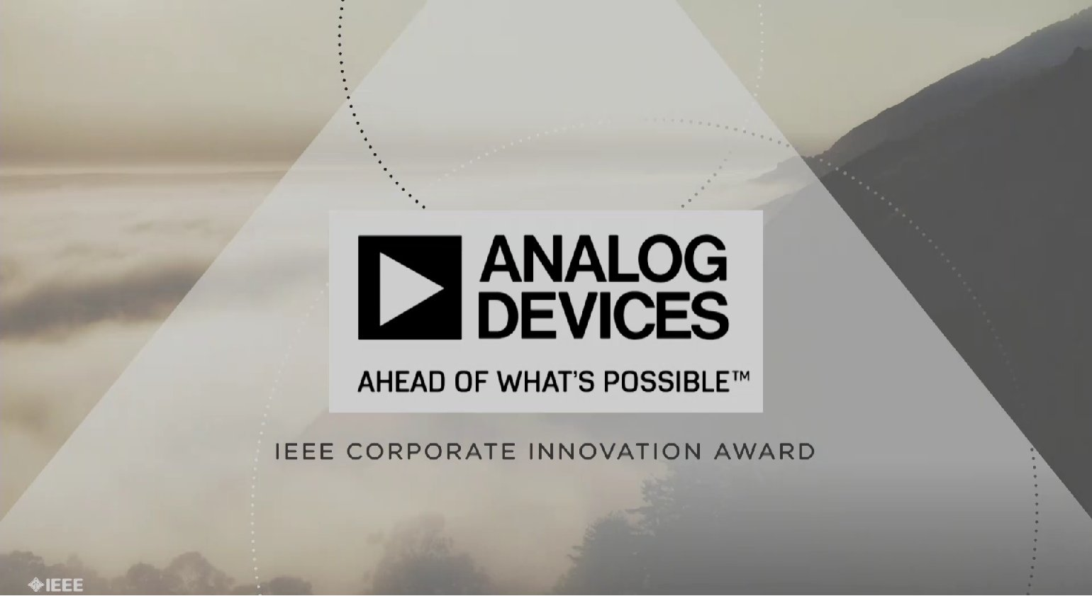 Analog Devices, Inc. accepts the IEEE Corporate Innovation Award - Honors Ceremony 2017