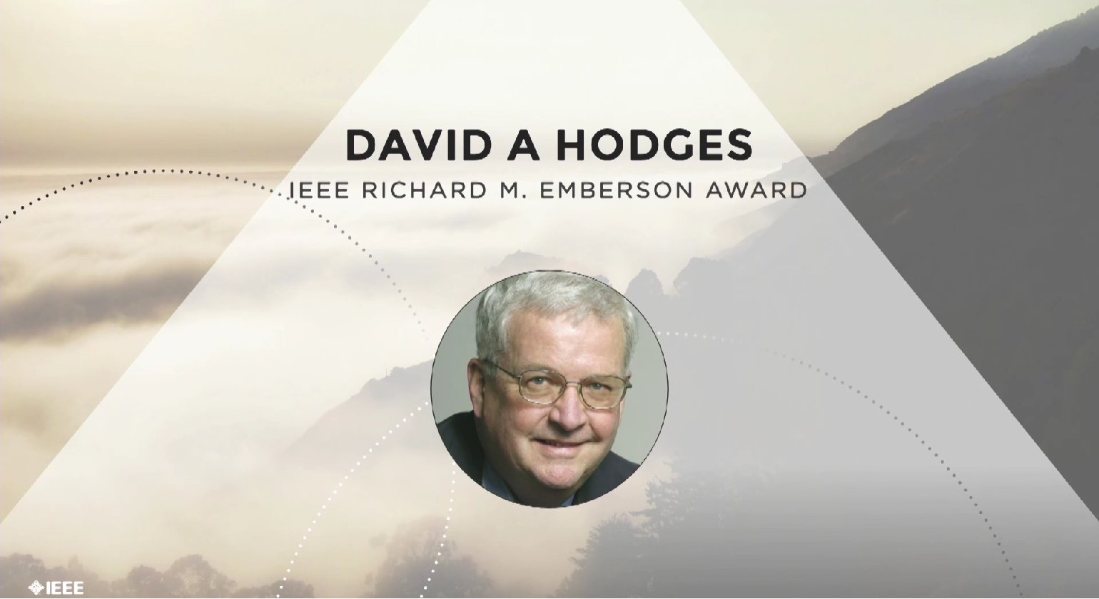 David A. Hodges accepts the IEEE Richard M. Emberson Award - Honors Ceremony 2017