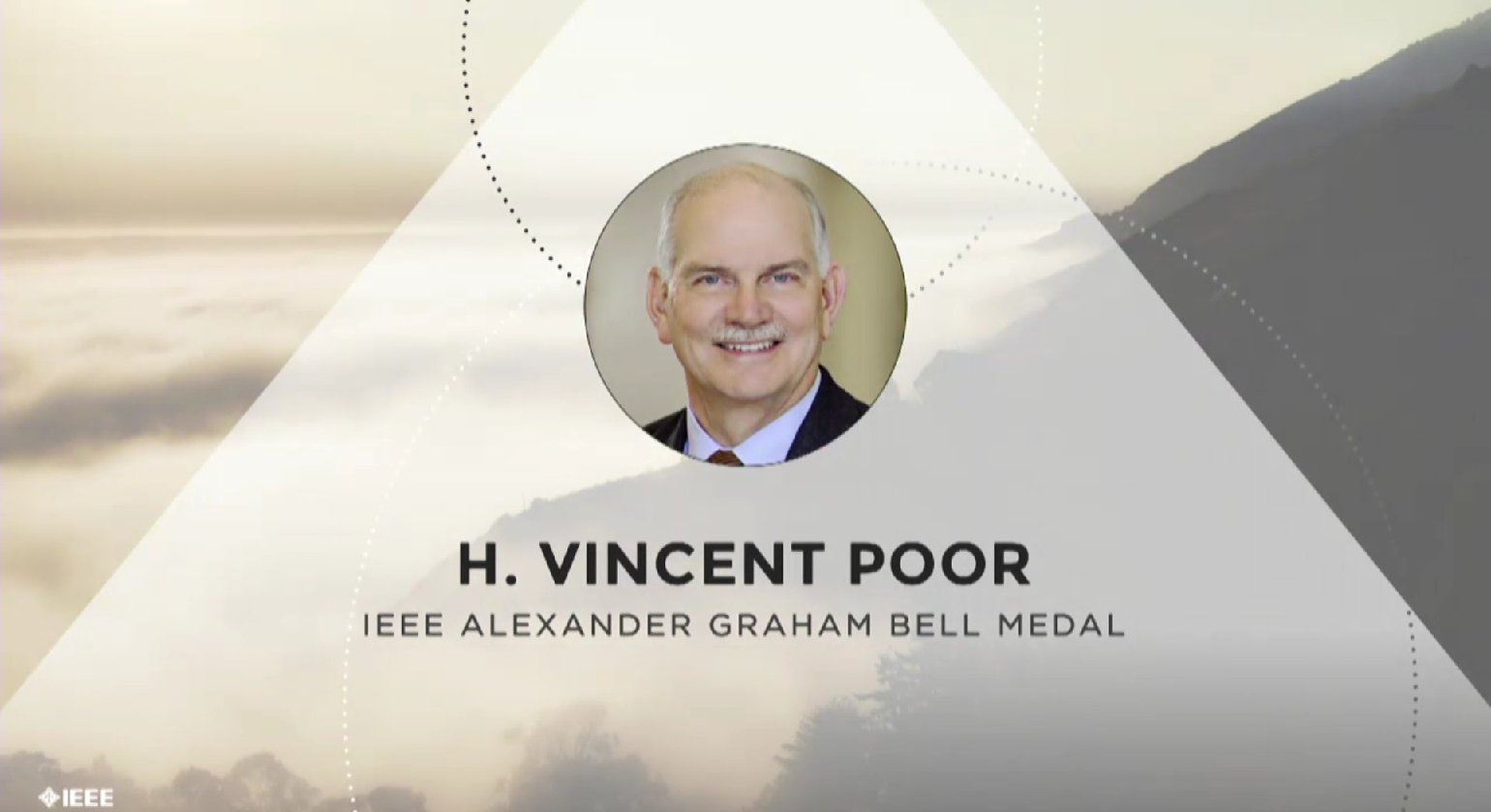 H. Vincent Poor accepts the IEEE Alexander Graham Bell Medal - Honors Ceremony 2017