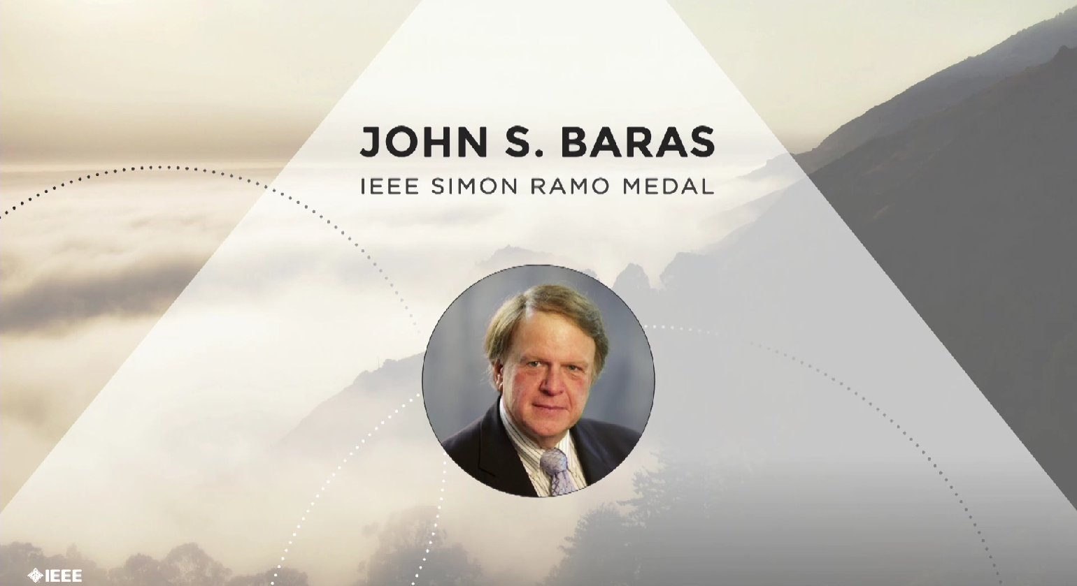 John S. Baras accepts the IEEE Simon Ramo Medal - Honors Ceremony 2017