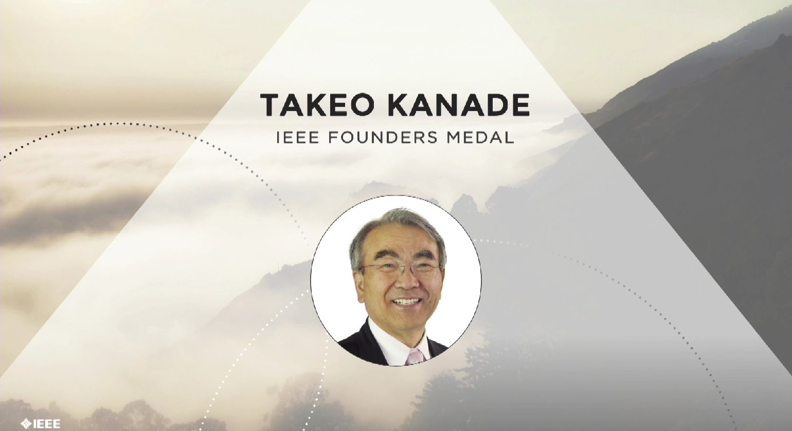 Takeo Kanade accepts the IEEE Founders Medal - Honors Ceremony 2017