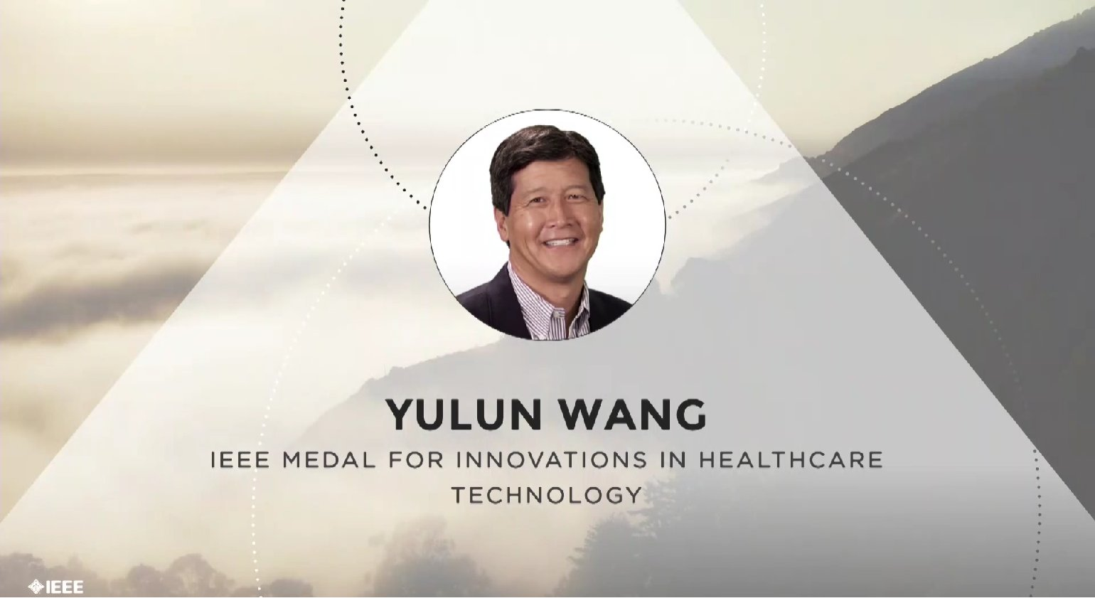 Yulun Wang accepts the IEEE Medal for Innovations in Healthcare Technology - Honors Ceremony 2017