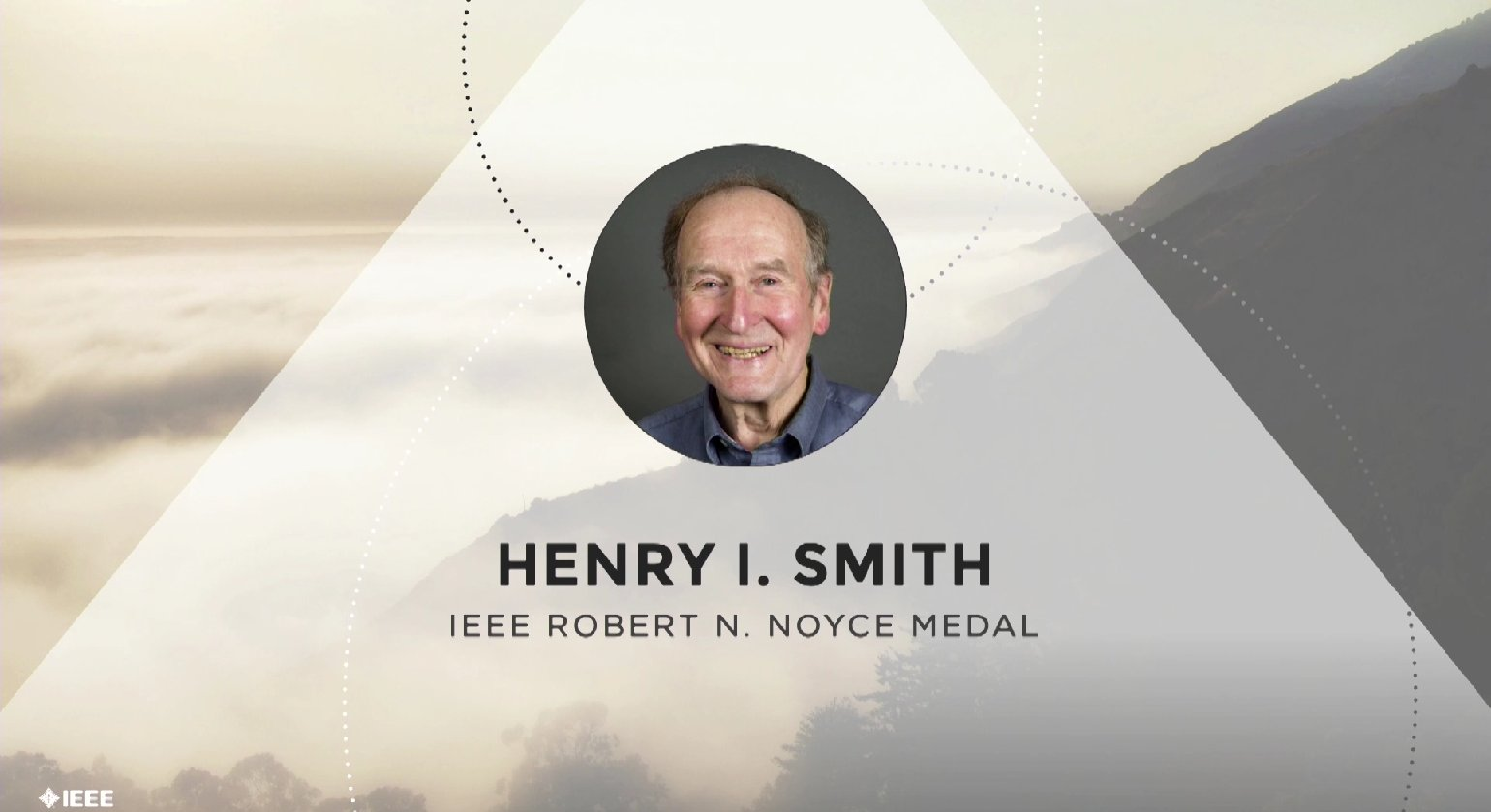 Henry I. Smith accepts the IEEE Robert N. Noyce Medal - Honors Ceremony 2017