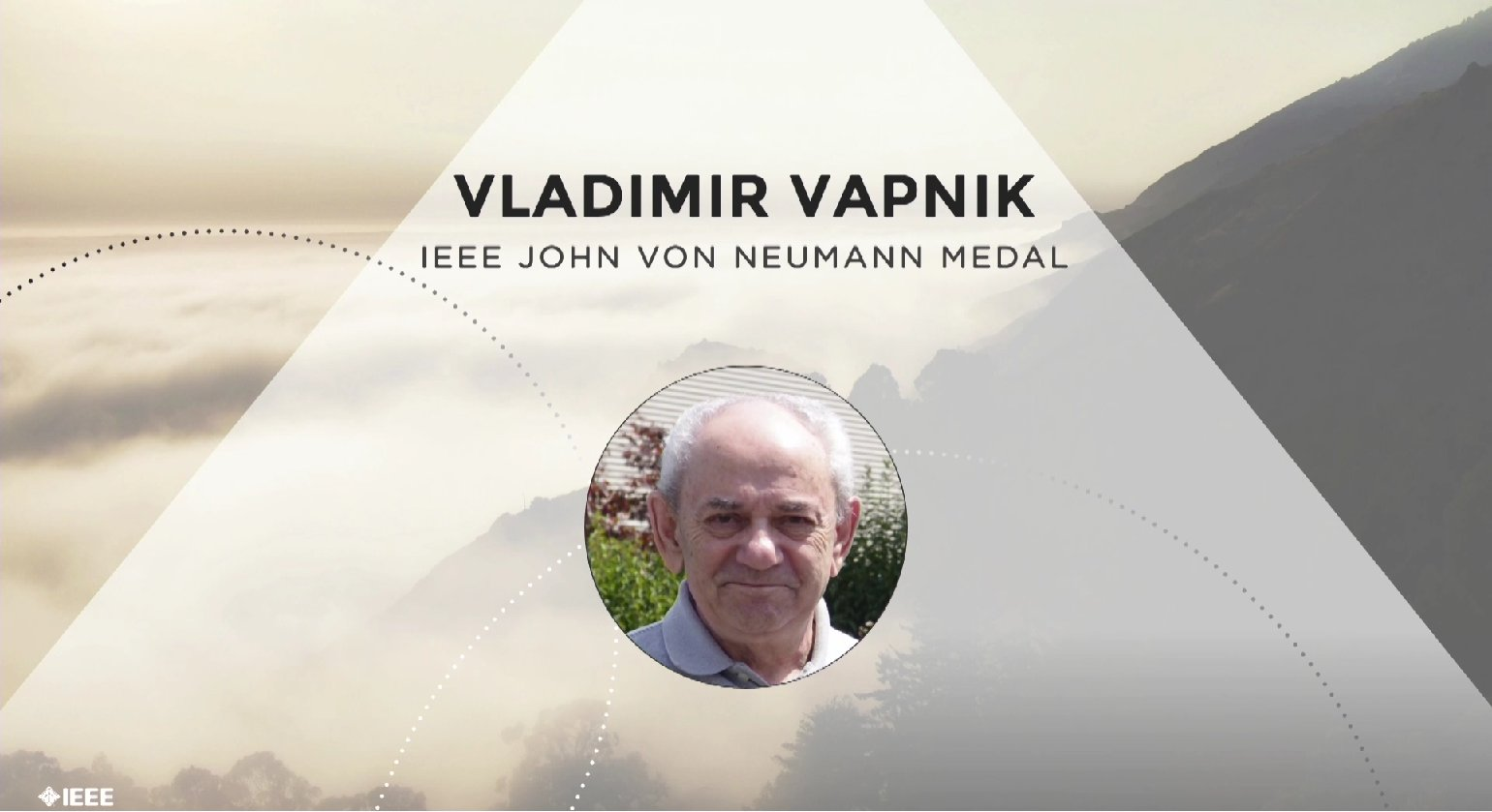 Vladimir Vapnik accepts the IEEE John Von Neumann Medal - Honors Ceremony 2017