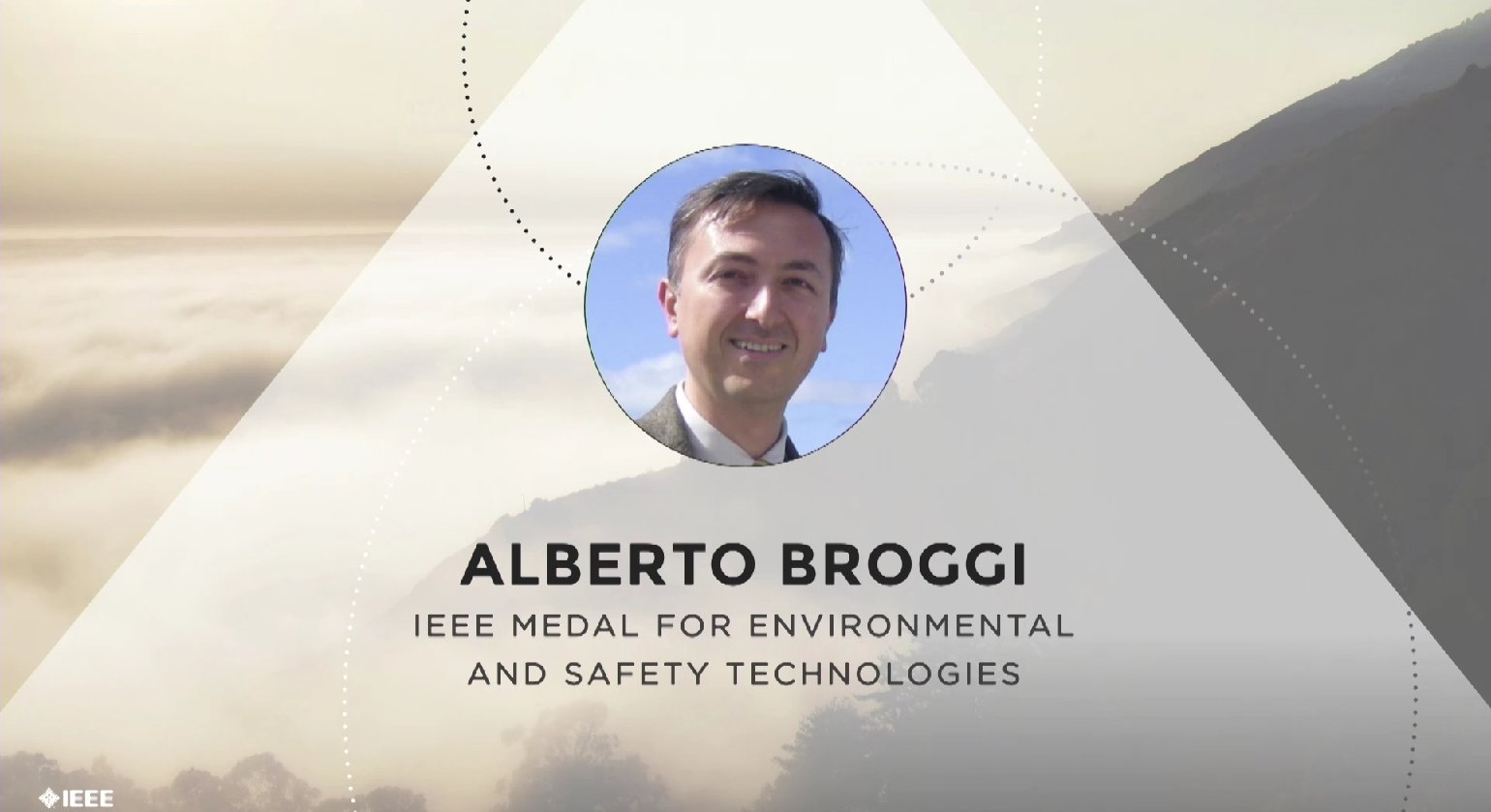 Alberto Broggi accepts the IEEE Medal for Environmental and Safety Technologies - Honors Ceremony 2017