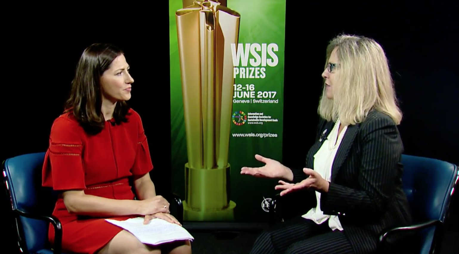 Karen Bartleson interviewed at World Summit on the Information Society