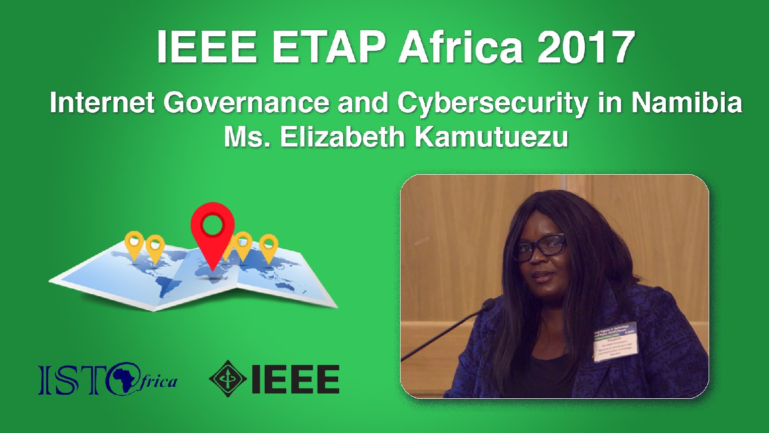Internet Governance and Cybersecurity in Namibia: Elizabeth Kamutuezu - ETAP Forum Namibia, Africa 2017