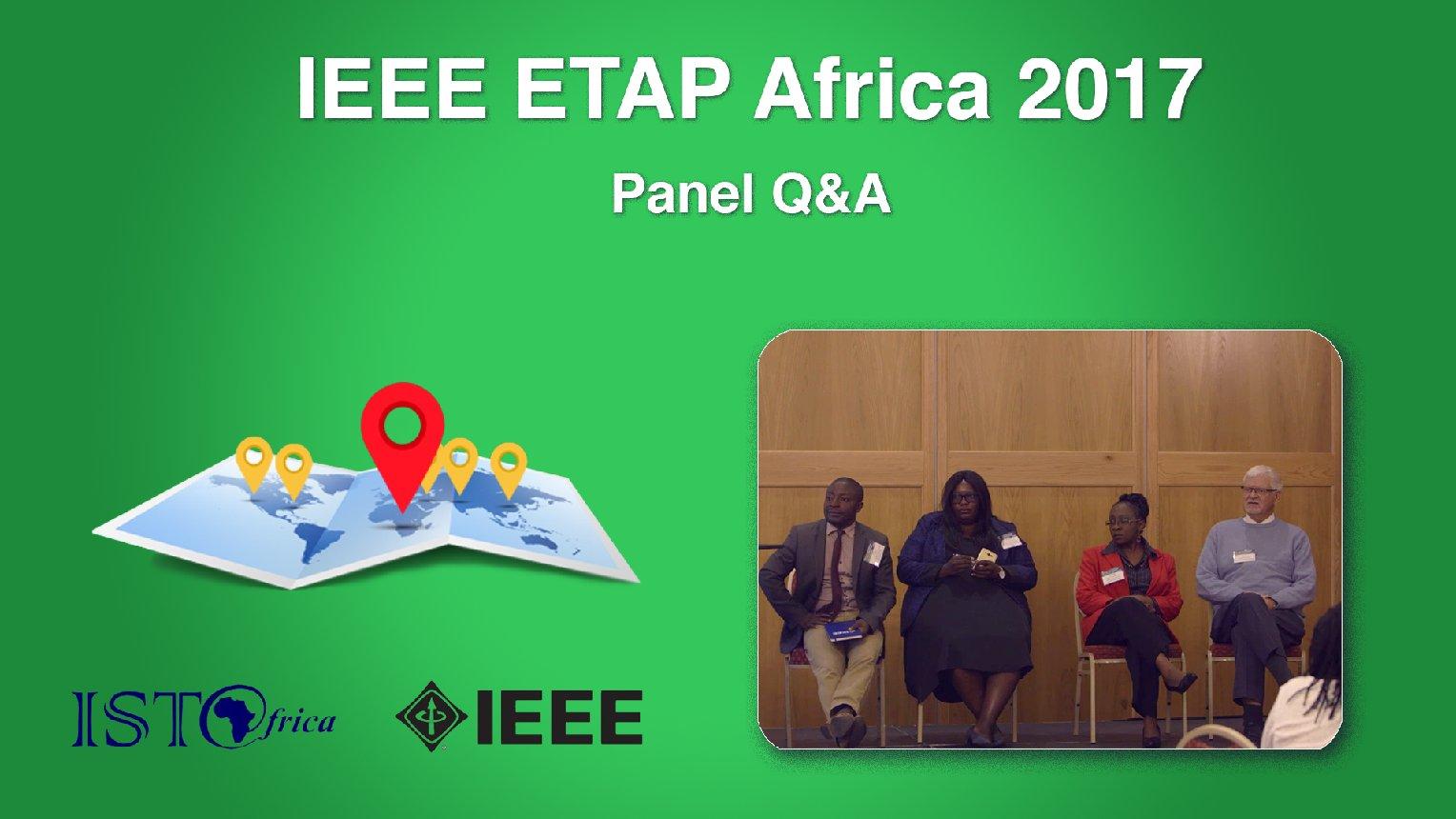 Panel Q&A - ETAP Forum Namibia, Africa 2017