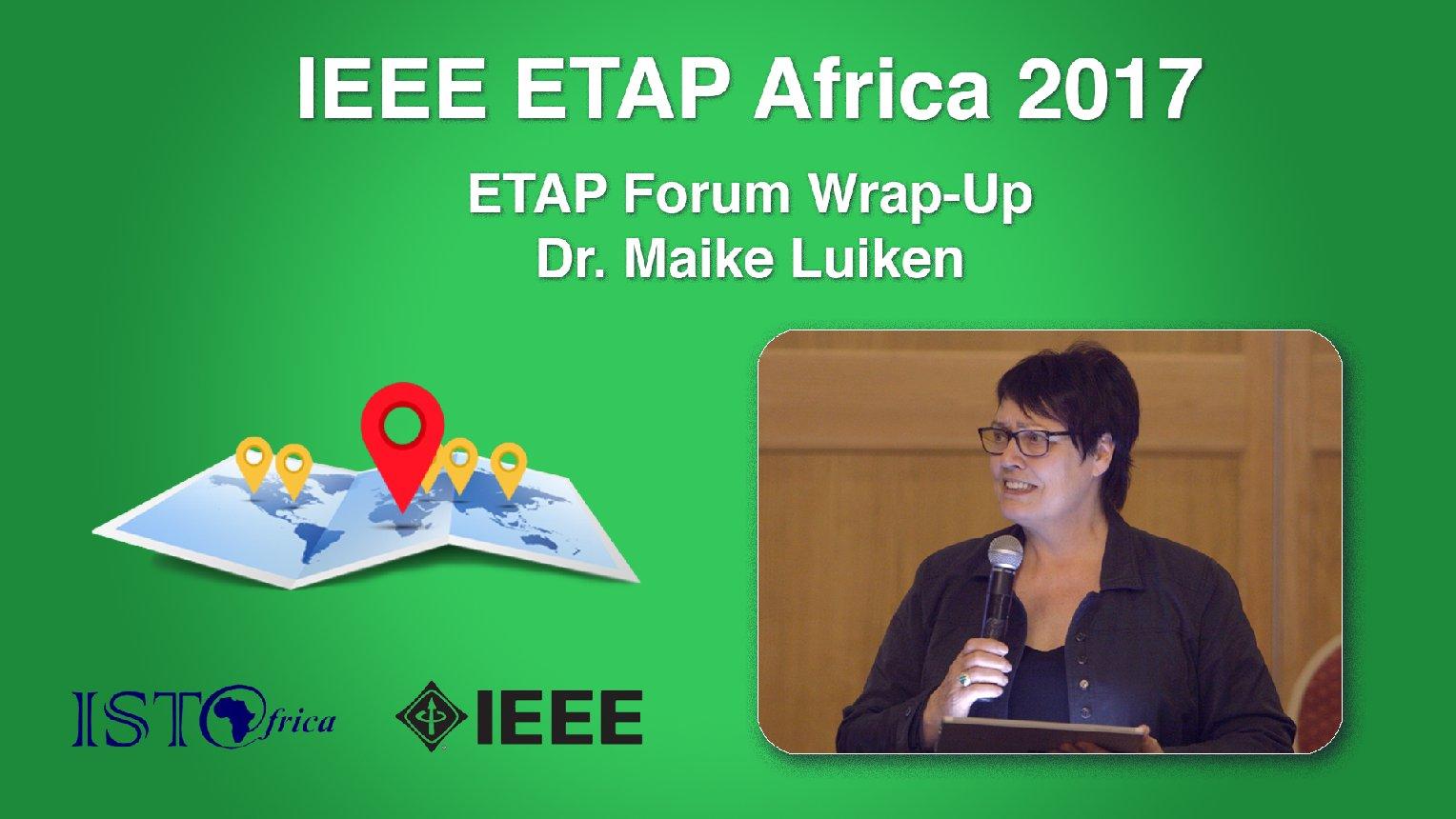 ETAP Forum Wrap-Up: Maike Luiken - ETAP Forum Namibia, Africa 2017