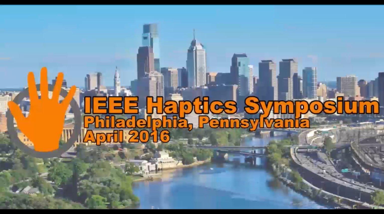 Keynote at 2016 Haptics Symposium: Roberta Klatzky