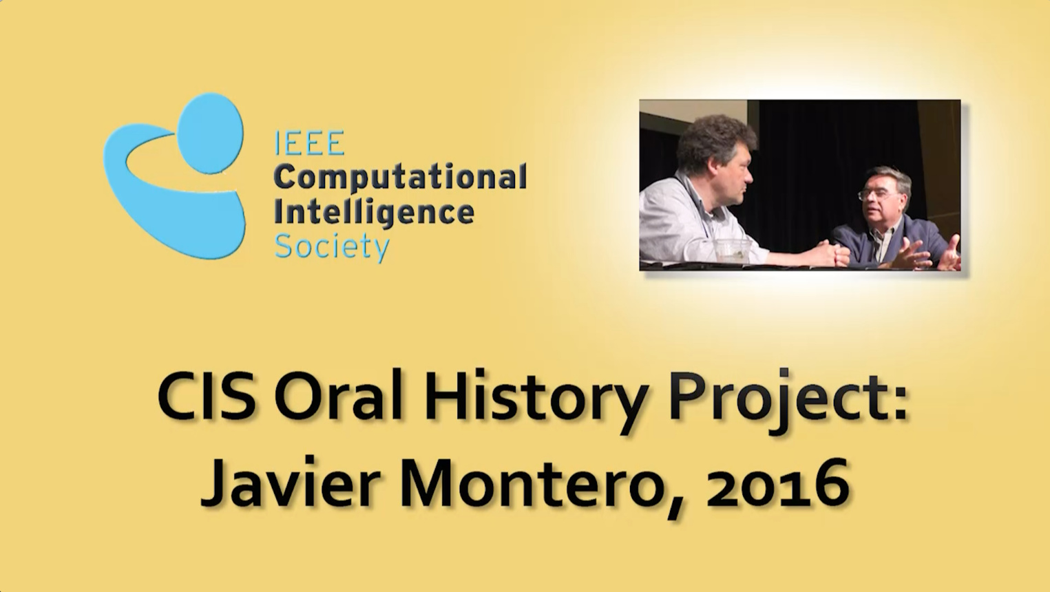 Interview with Javier Montero, 2016: CIS Oral History Project