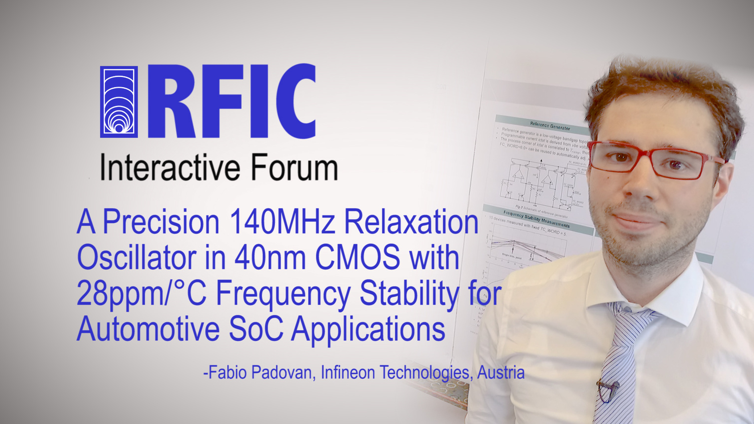 A Precision 140MHz Relaxation Oscillator in 40nm CMOS with 28ppm/C Frequency Stability for Automotive SoC Applications: RFIC Interactive Forum 2017