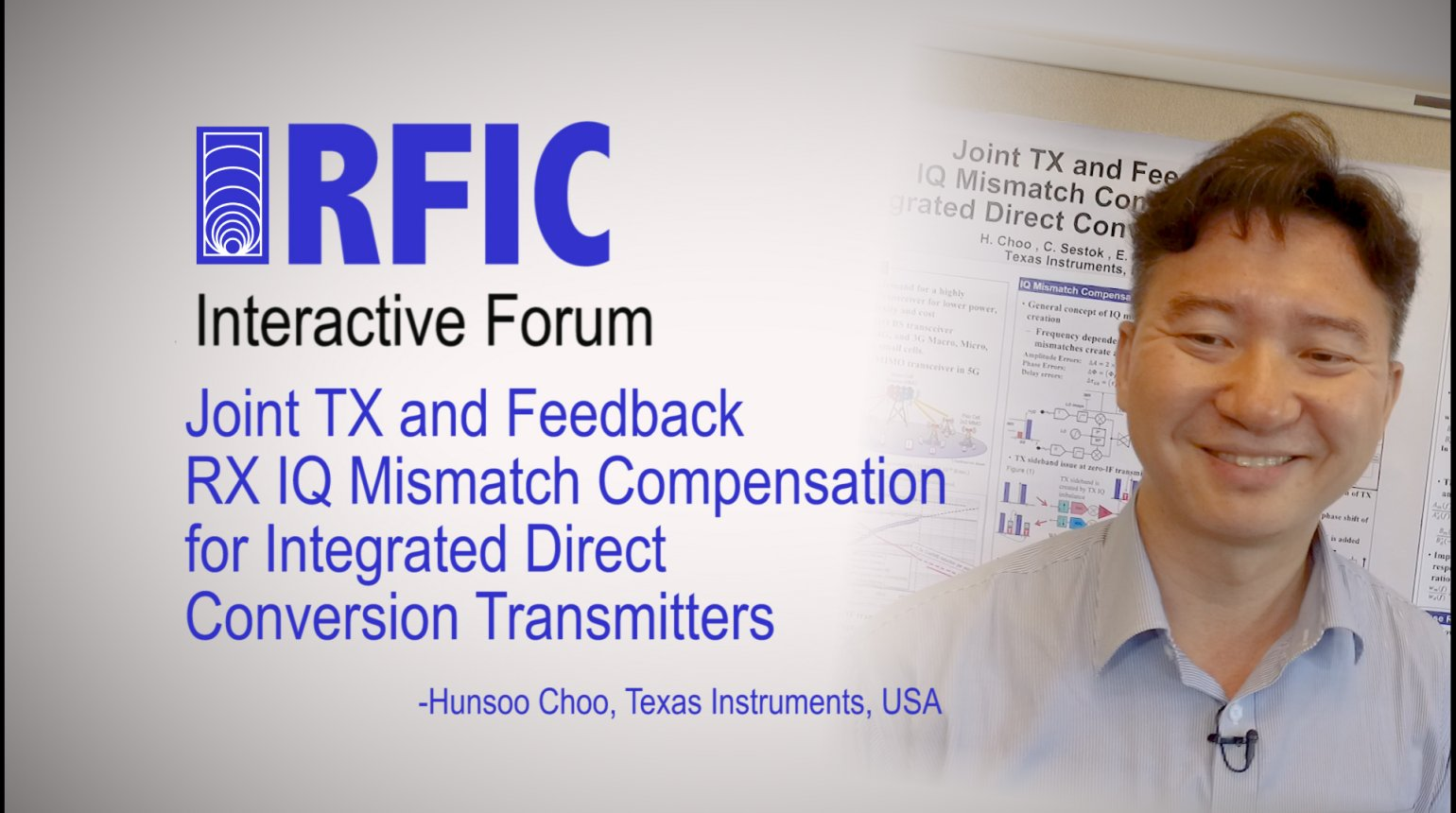 Joint TX and Feedback RX IQ Mismatch Compensation for Integrated Direct Conversion Transmitters: RFIC Interactive Forum 2017
