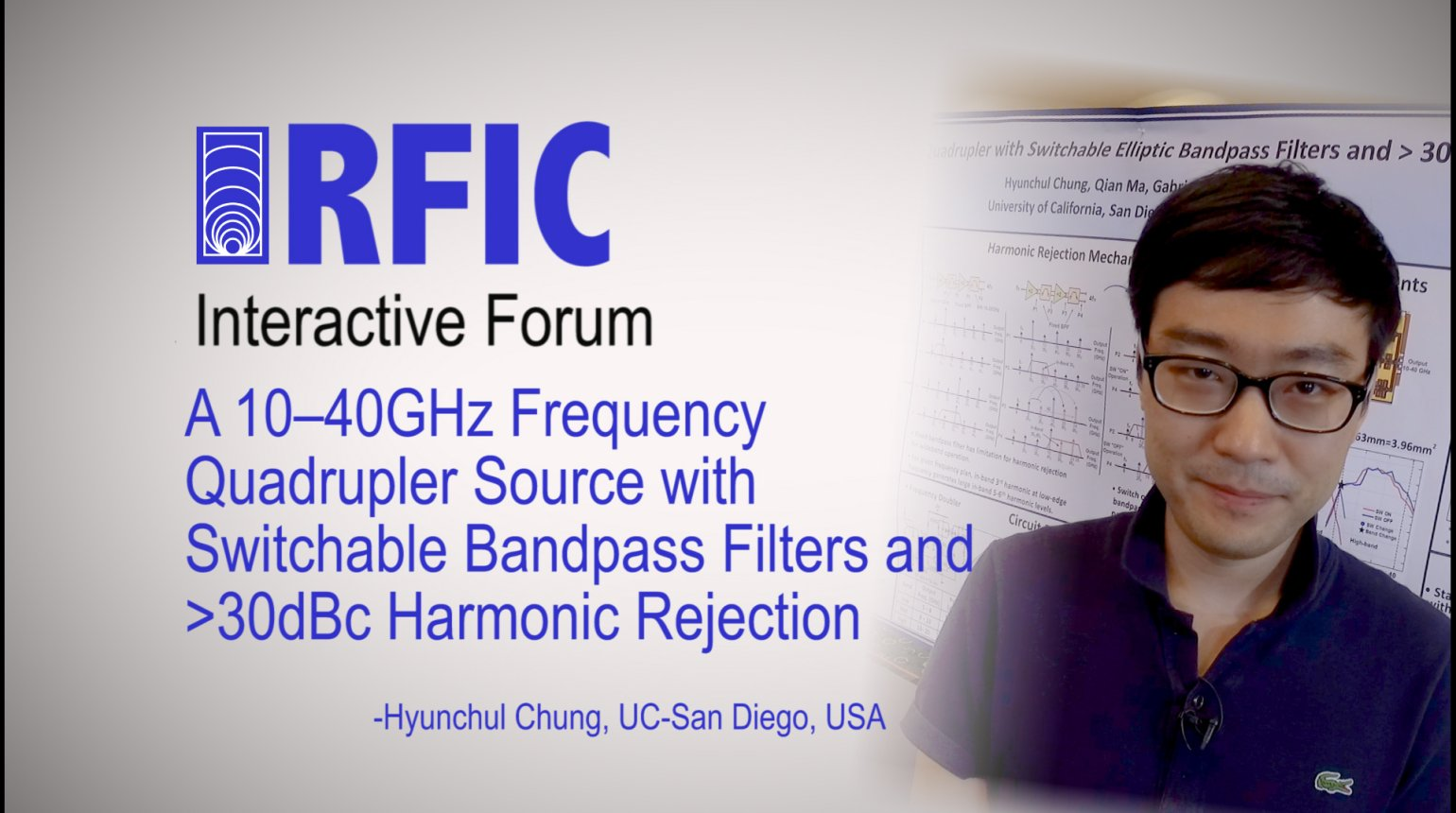 A 10-40GHz Frequency Quadrupler Source with Switchable Bandpass Filters and >30dBc Harmonic Rejection: RFIC Interactive Forum 2017
