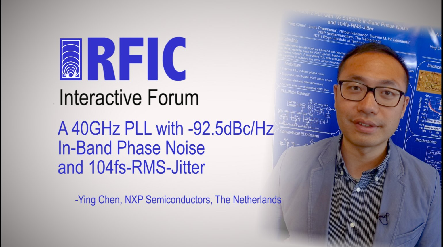 A 40GHz PLL with -92.5dBc/Hz In-Band Phase Noise and 104fs-RMS-Jitter: RFIC Interactive Forum 2017
