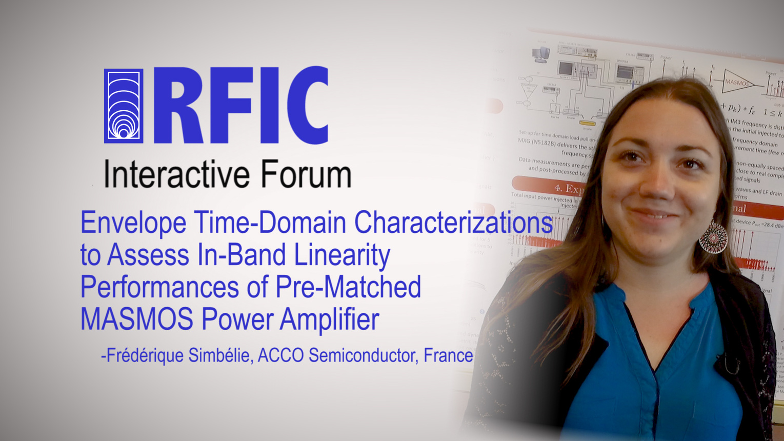 Envelope Time-Domain Characterizations to Assess In-Band Linearity Performances of Pre-Matched MASMOS Power Amplifier: RFIC Interactive Forum 2017