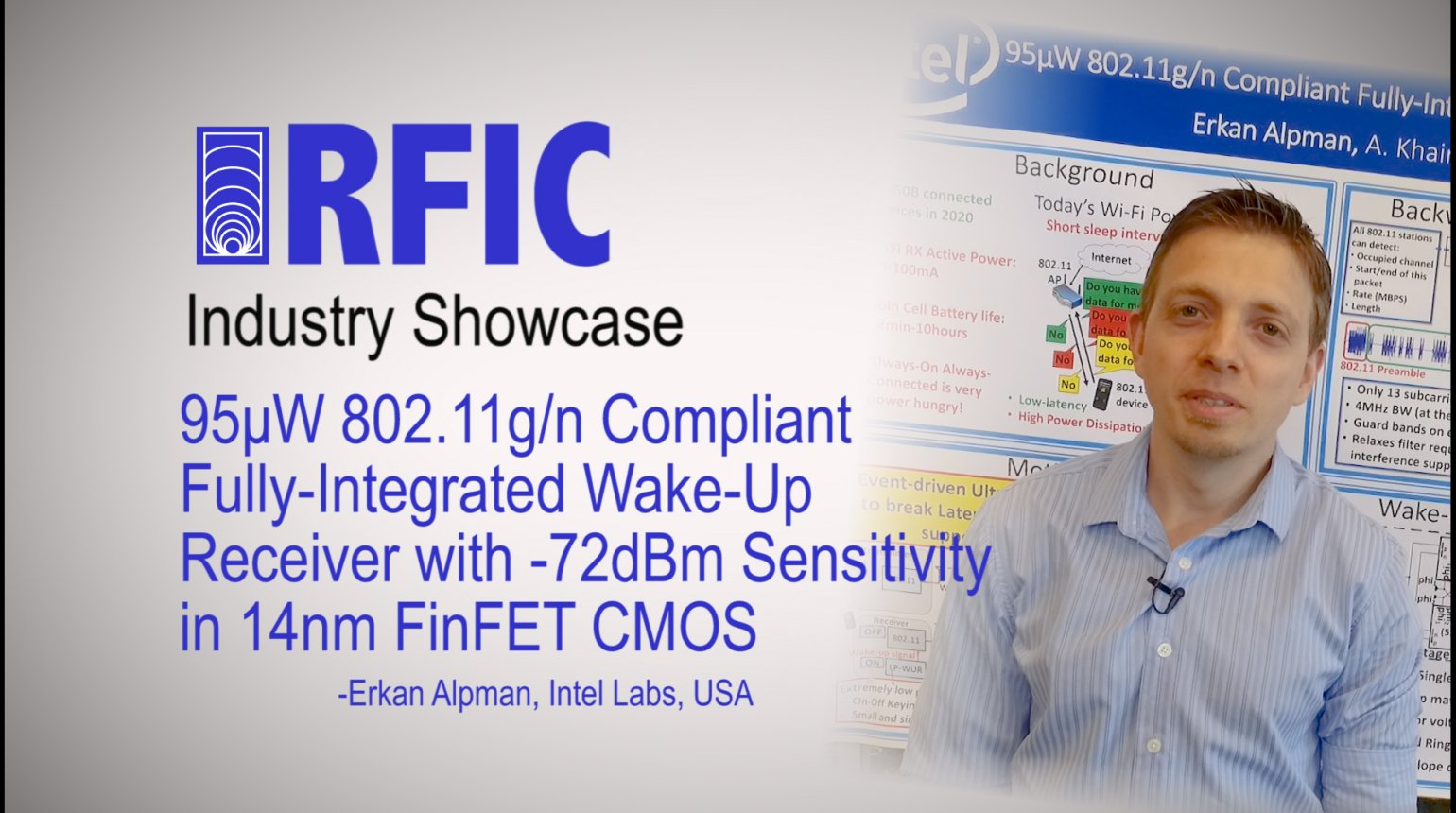 95uW 802.11g/n compliant fully-integrated wake-up receiver with -72dBm sensitivity in 14nm FinFET CMOS: RFIC Industry Showcase 2017
