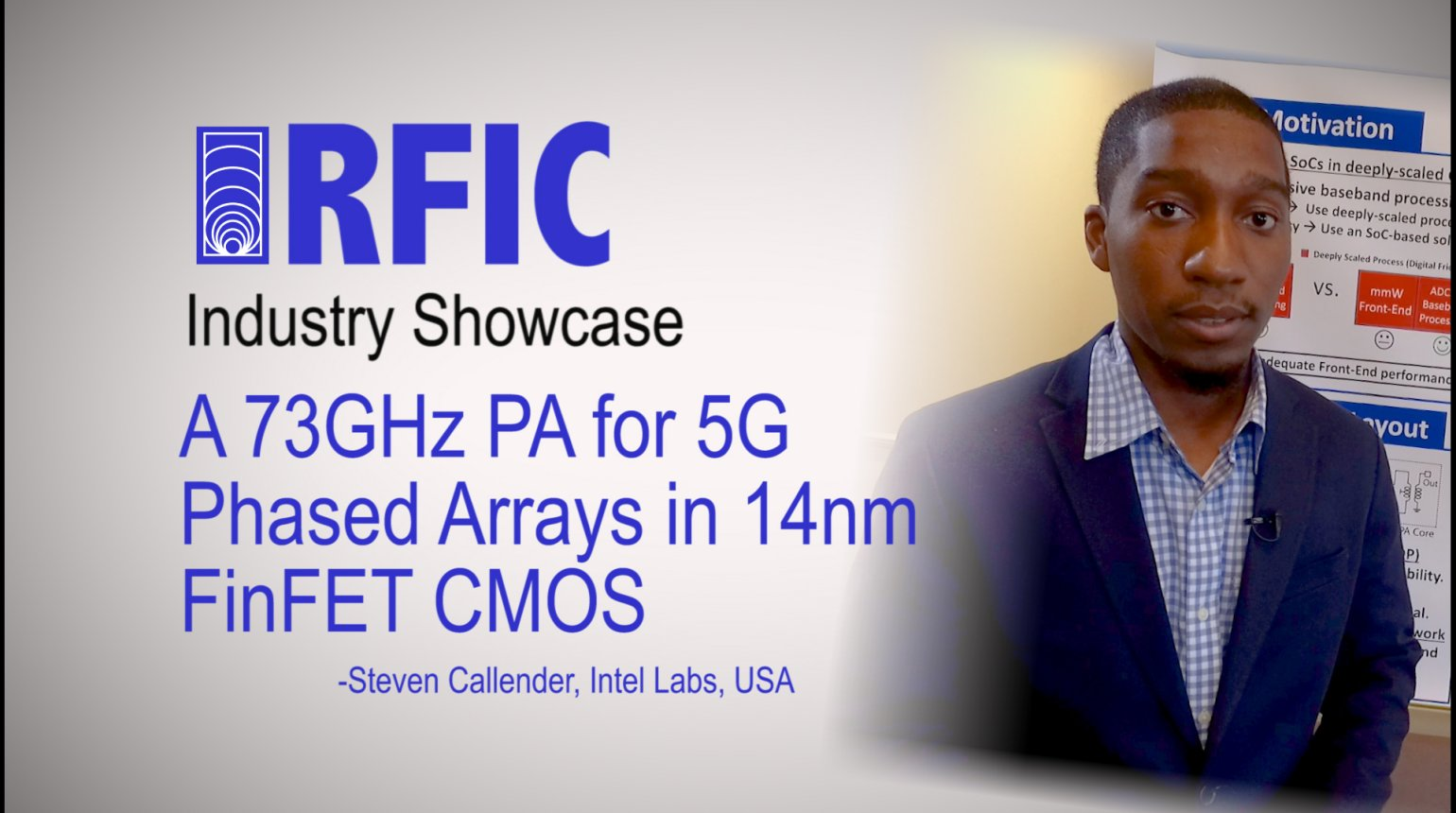 A 73GHz PA for 5G Phased Arrays in 14nm FinFET CMOS: RFIC Industry Showcase 2017