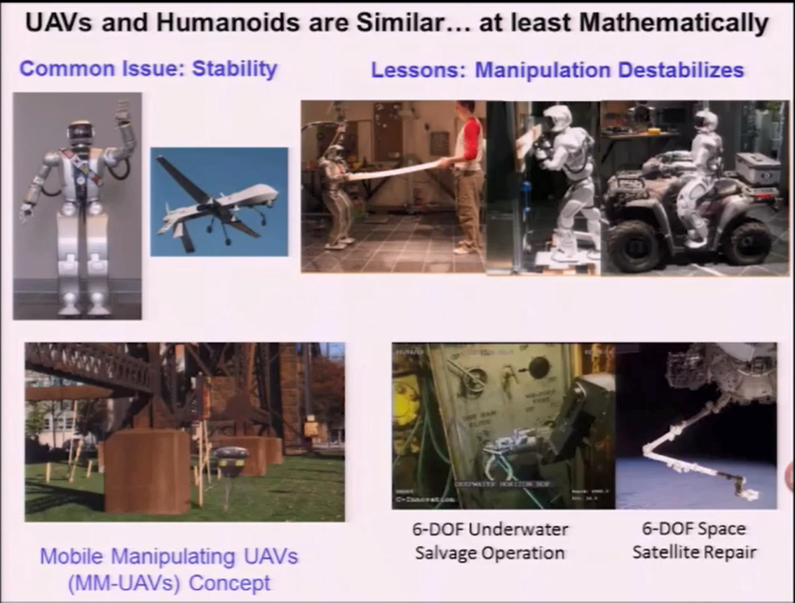 Material-Handling- Paradigms for Humanoids and UAVs