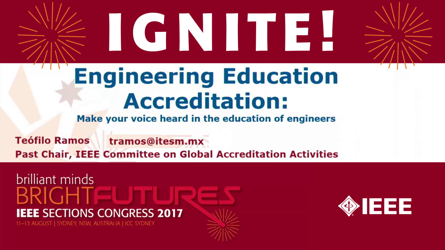 Engineering Education Accreditation - Teofilo Ramos - Ignite: Sections Congress 2017