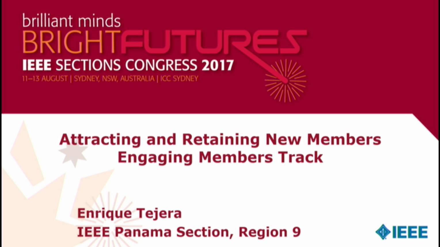 Attracting and Retaining New Members - Enrique Tejera - Brief Sessions: Sections Congress 2017