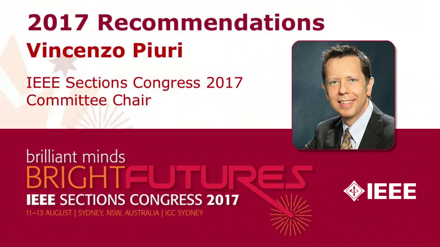 Vincenzo Piuri - Moving Our Ideas Forward - Closing Ceremony: Sections Congress 2017