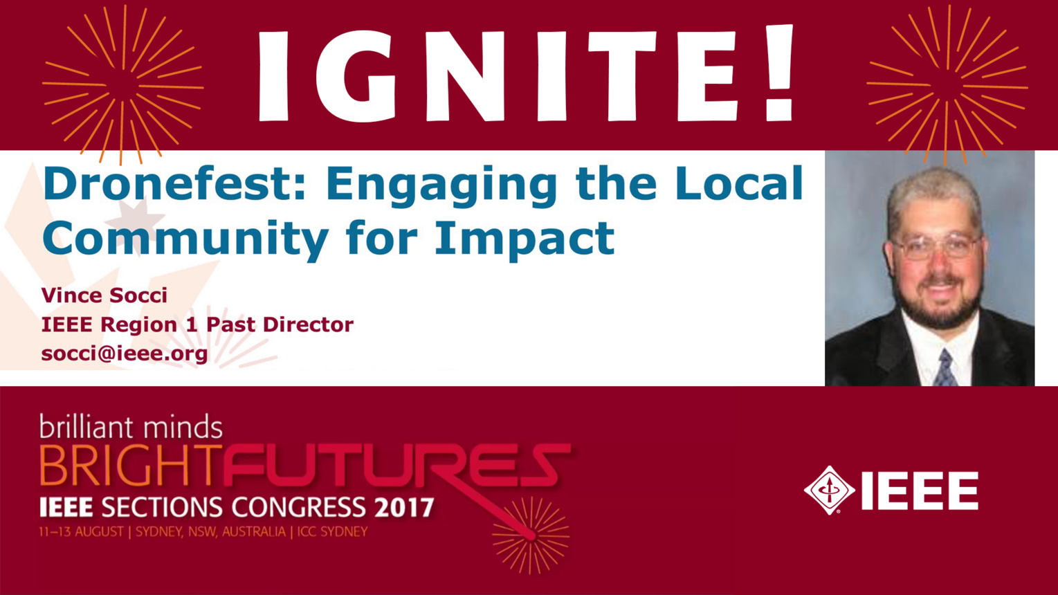 Dronefest: Engaging the Local Community for Impact - Vince Socci - Ignite: Sections Congress 2017