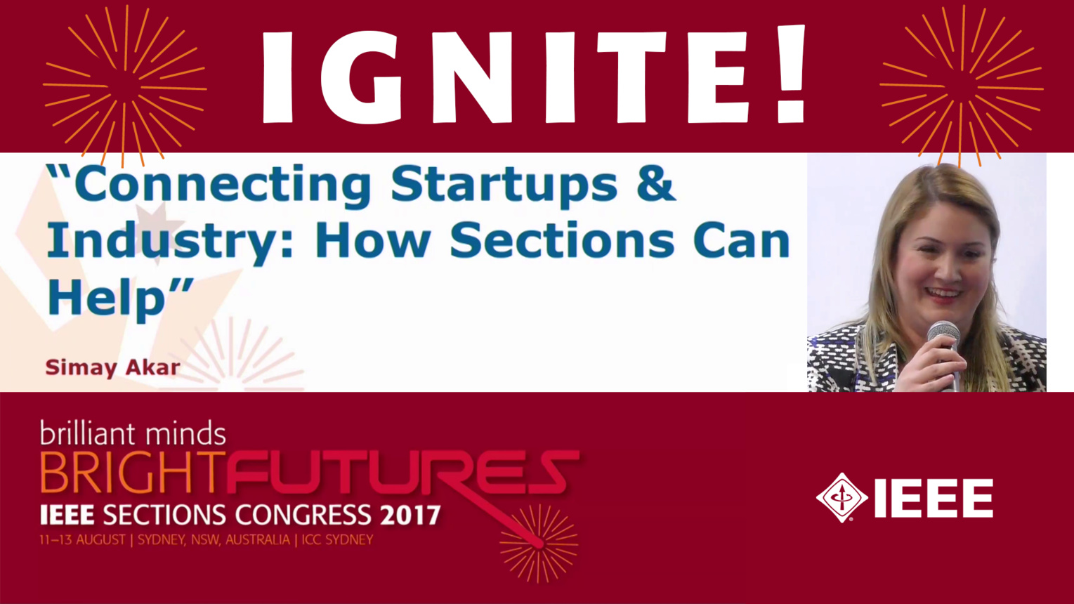 Connecting Startups and Industry: How Sections Can Help - Simay Akar - Ignite: Sections Congress 2017